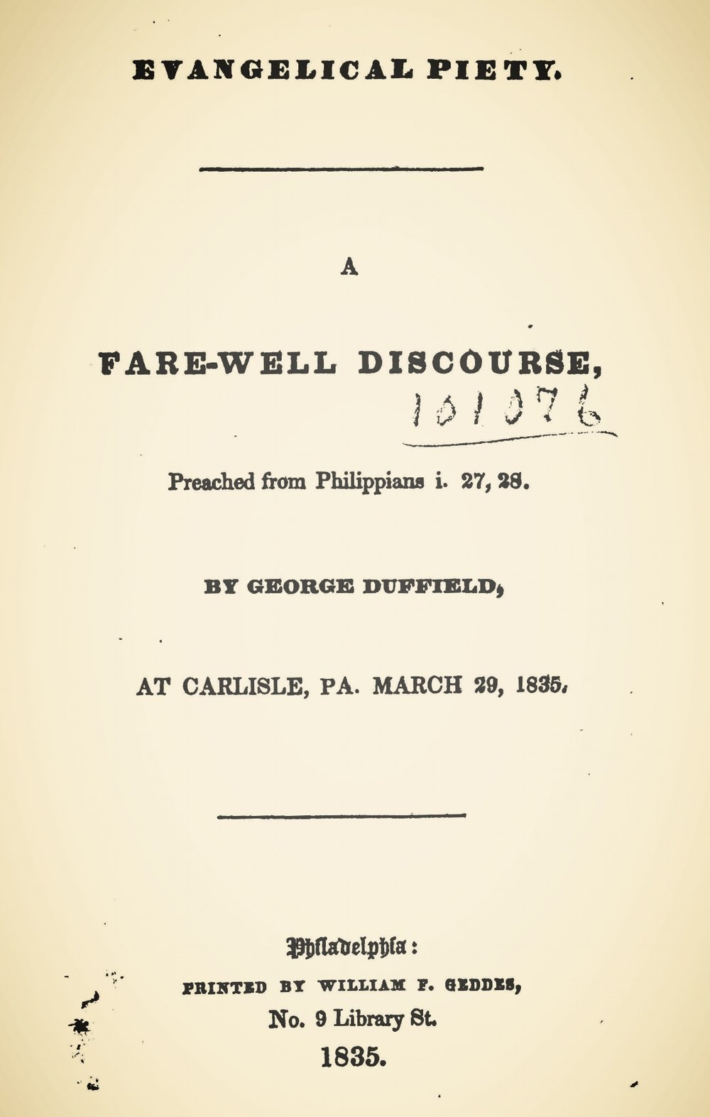 Duffield, IV, George, Evangelical Piety Title Page.jpg