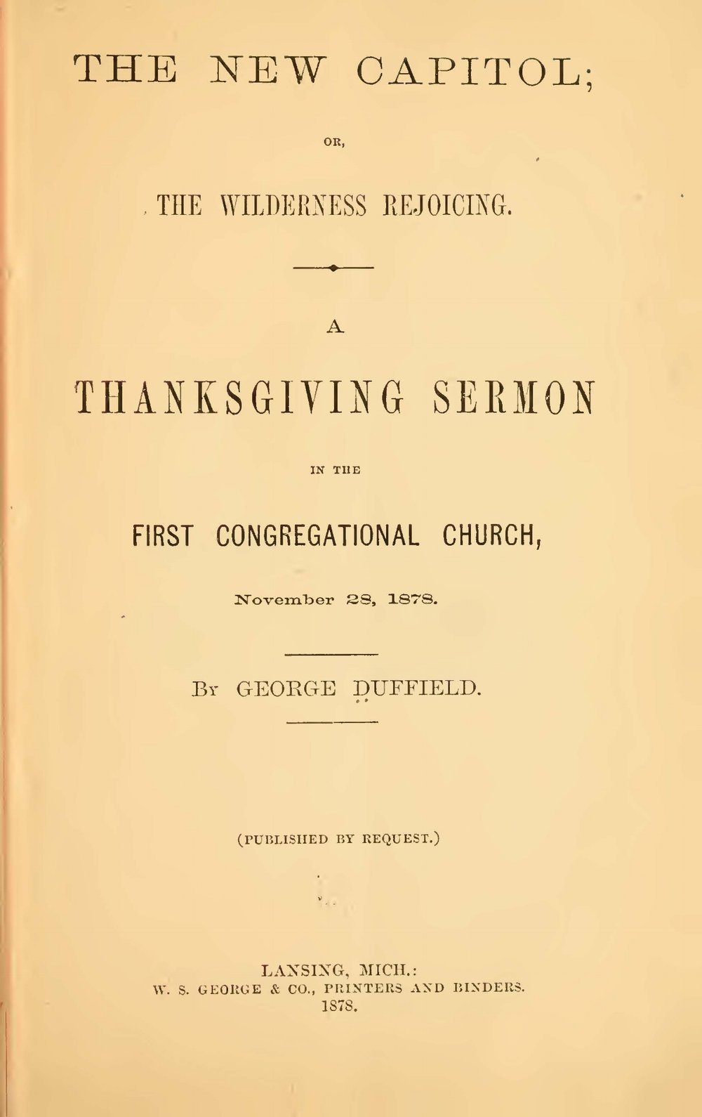 Duffield, V, George, The New Capitol Title Page.jpg
