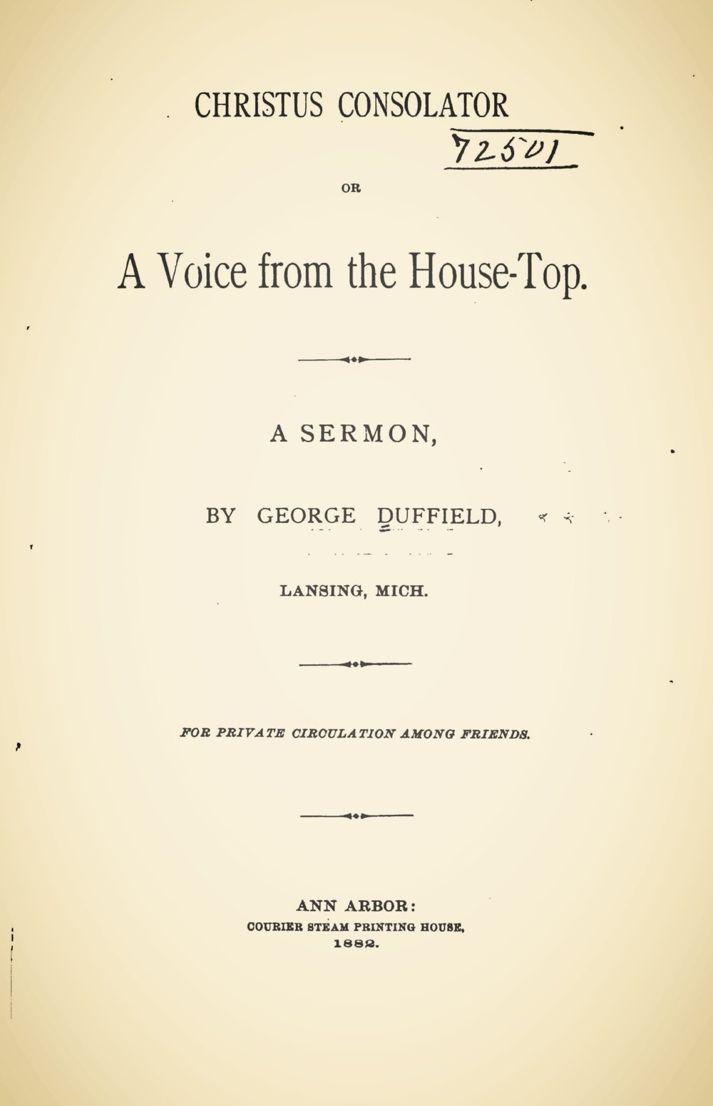 Duffield, V, George, Christus Consolator Title Page.jpg