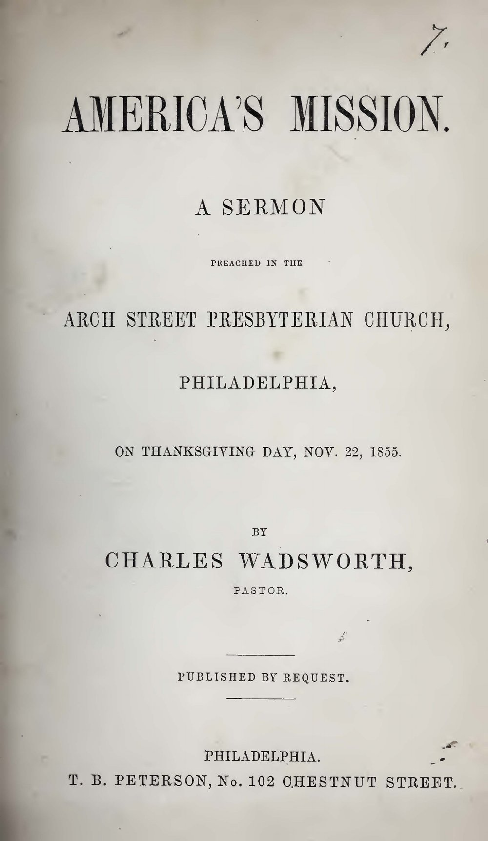 Wadsworth, Charles, America's Mission Title Page.jpg