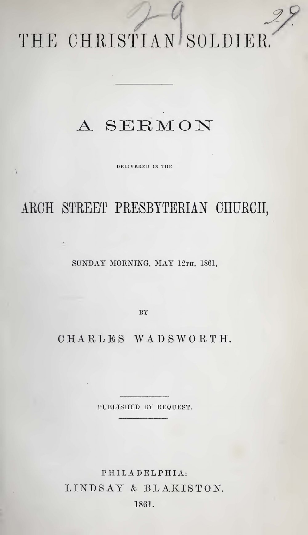 Wadsworth, Charles, The Christian Soldier Title Page.jpg