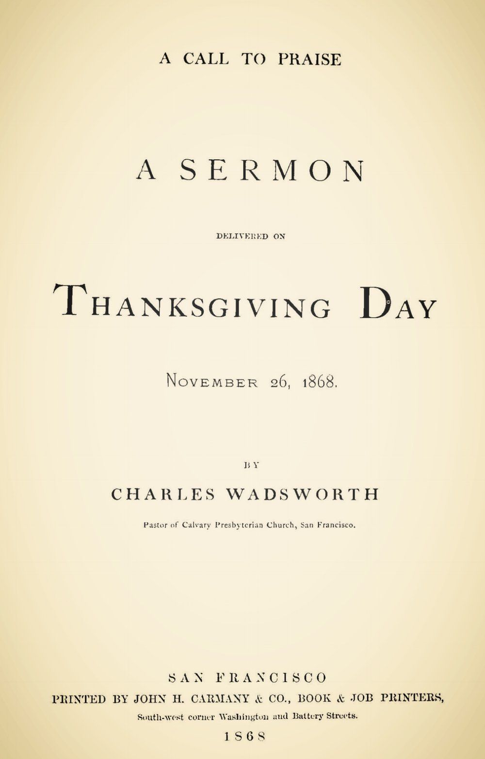 Wadsworth, Charles, A Call to Praise Title Page.jpg