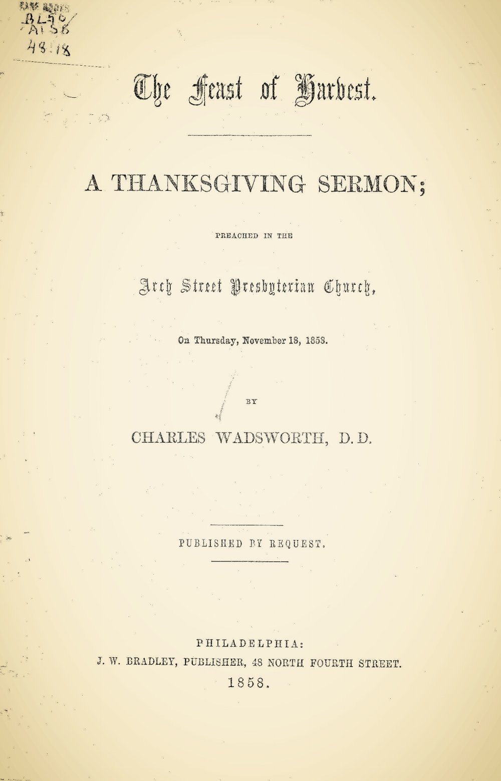 Wadsworth, Charles, The Feast of Harvest Title Page.jpg