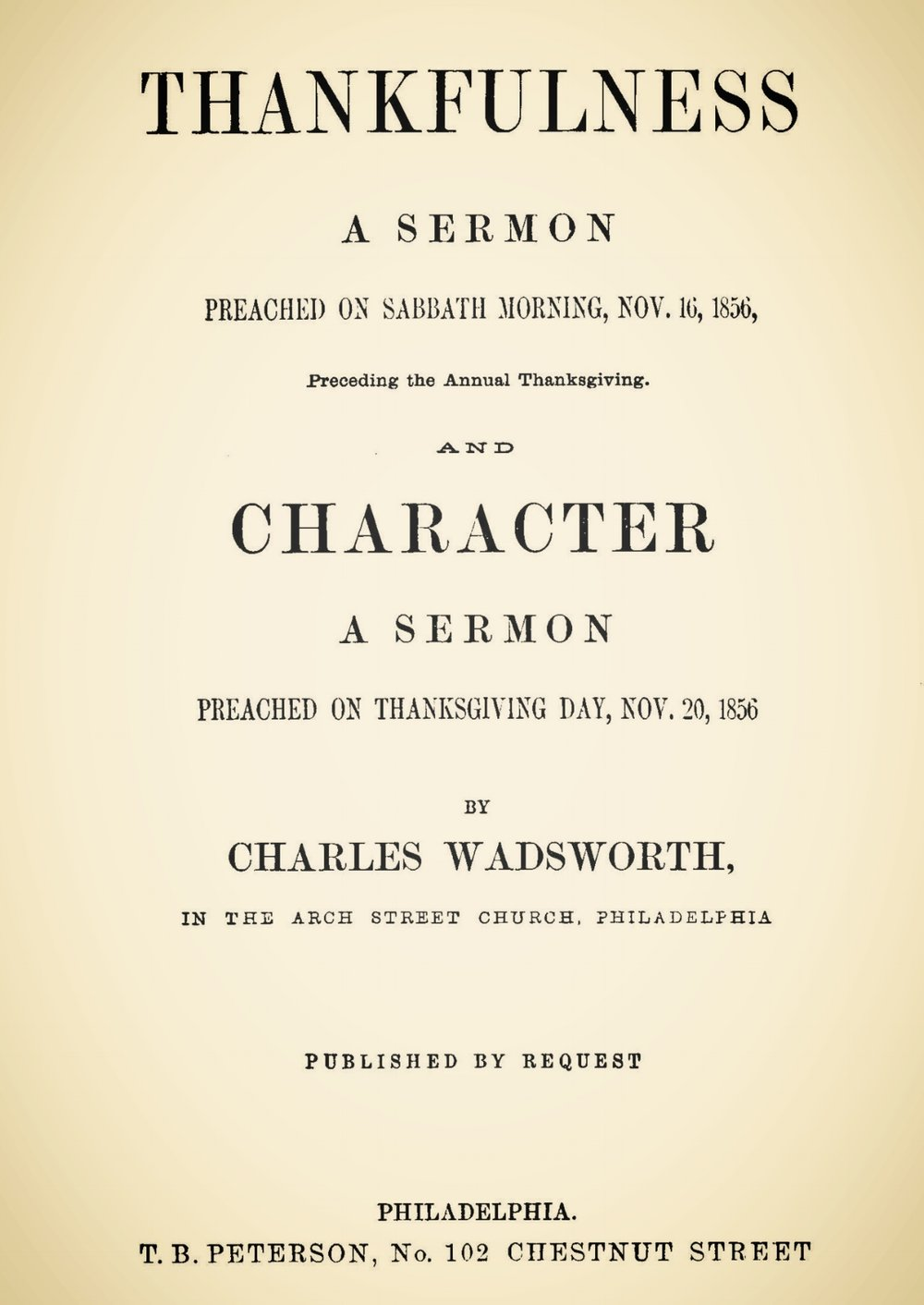 Wadsworth, Charles, Thankfulness and Character Sermons Title Page.jpg