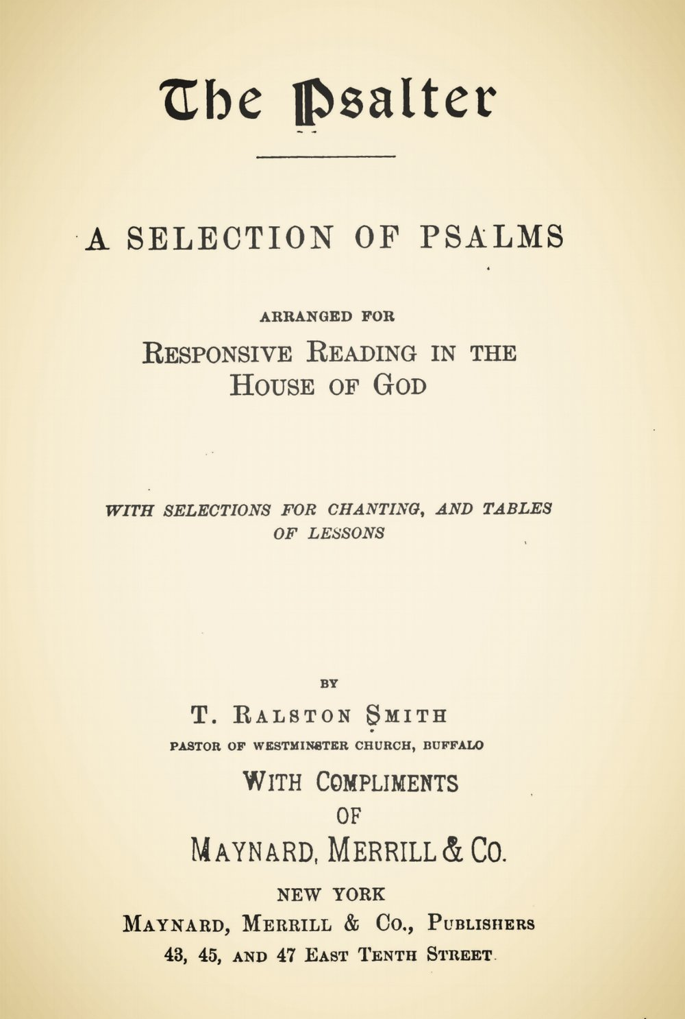 Smith, Thomas Ralston, The Psalter Title Page.jpg