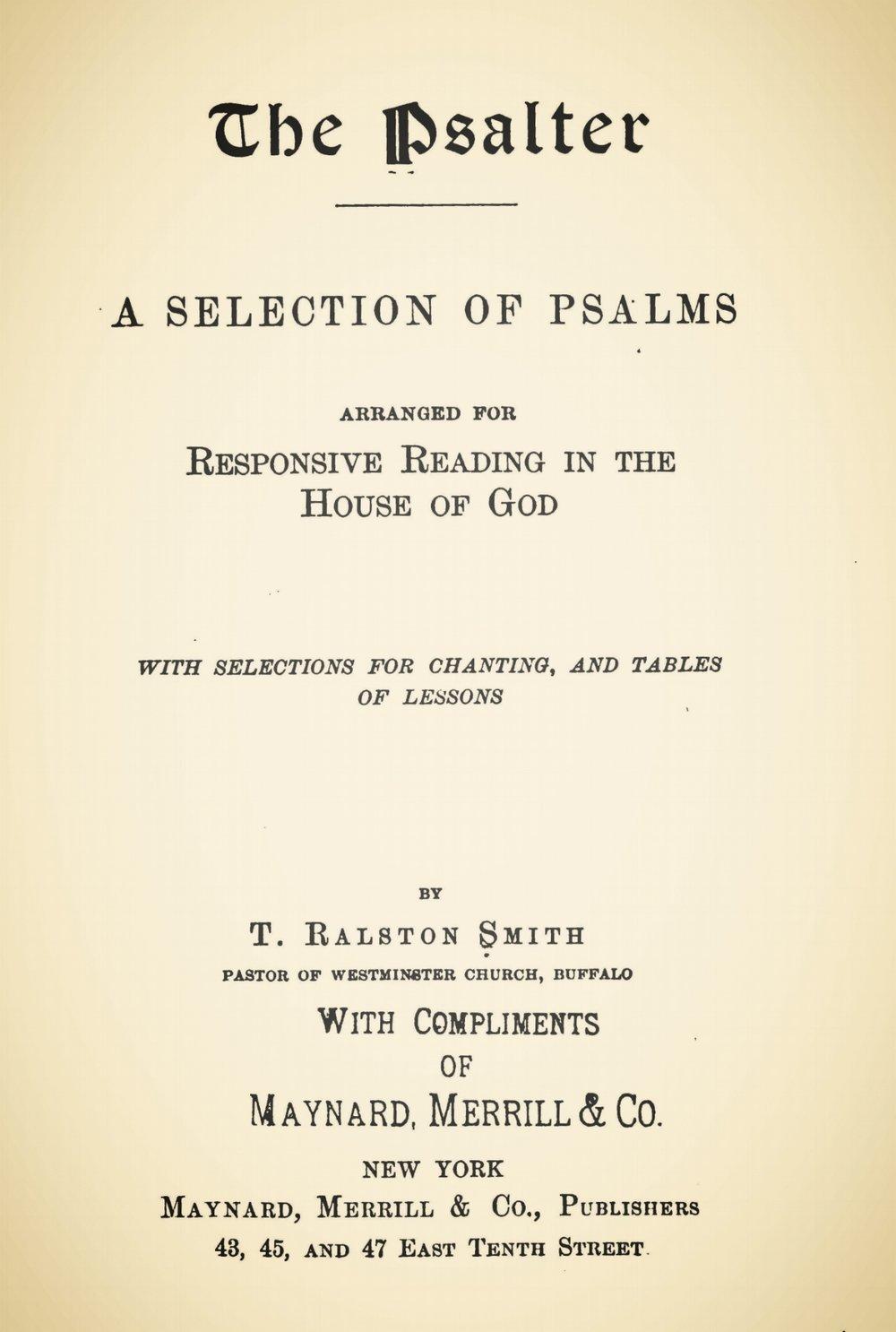 Smith, Thomas Ralston, The Psalter Title Page.jpg