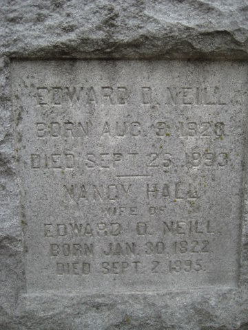 Edward Duffield Neill is buried at Oakland Cemetery, Saint Paul, Minnesota.