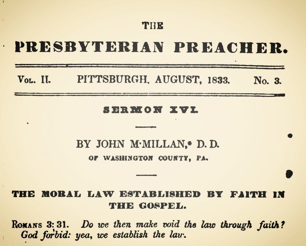 McMillan, John, The Moral Law Established by Faith in the Gospel Title Page.jpg