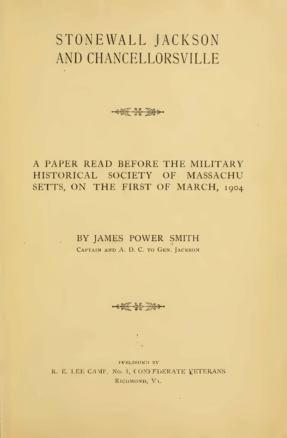Smith, James Power, Stonewall Jackson and Chancellorsville Title Page.jpg