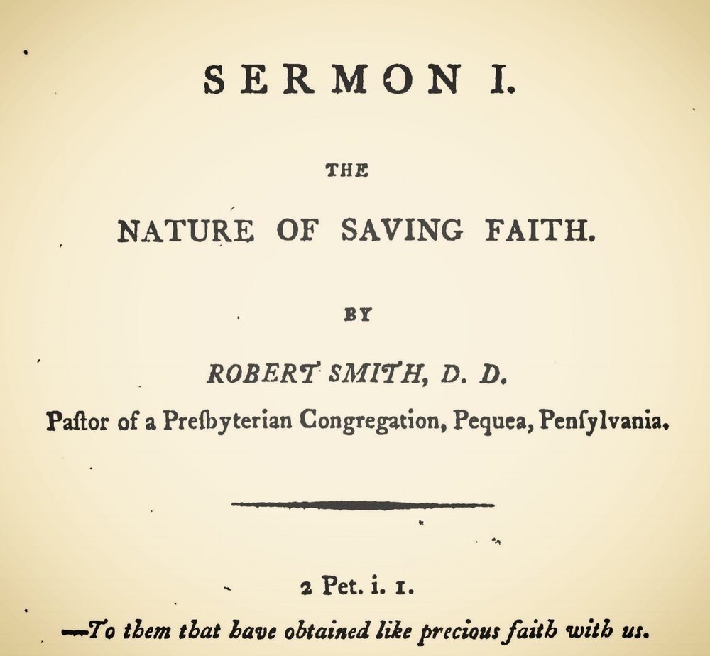 Smith, Robert, The Nature of Saving Faith Title Page.jpg