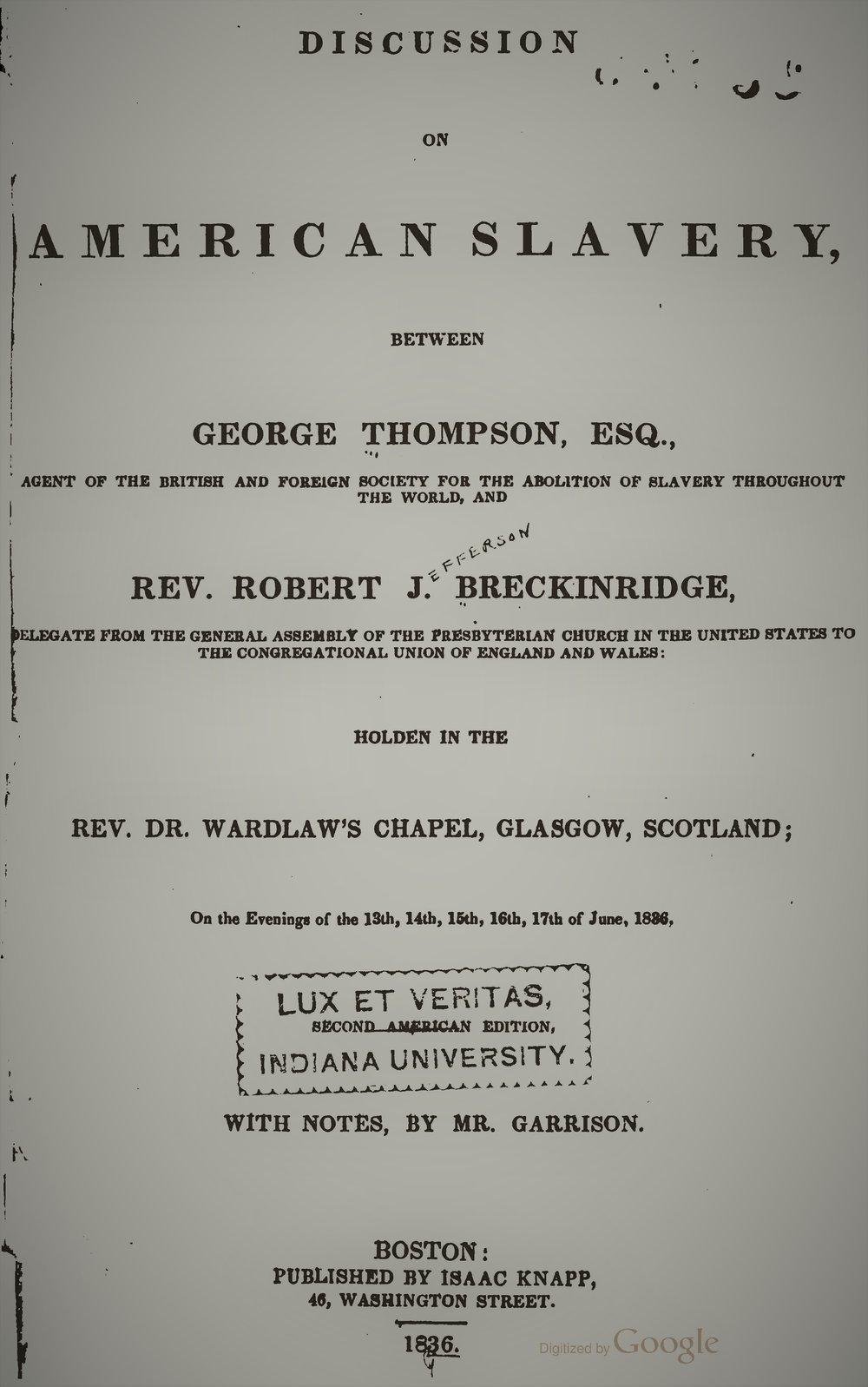 Breckinridge, Robert - Discussion of American Slavery.jpg