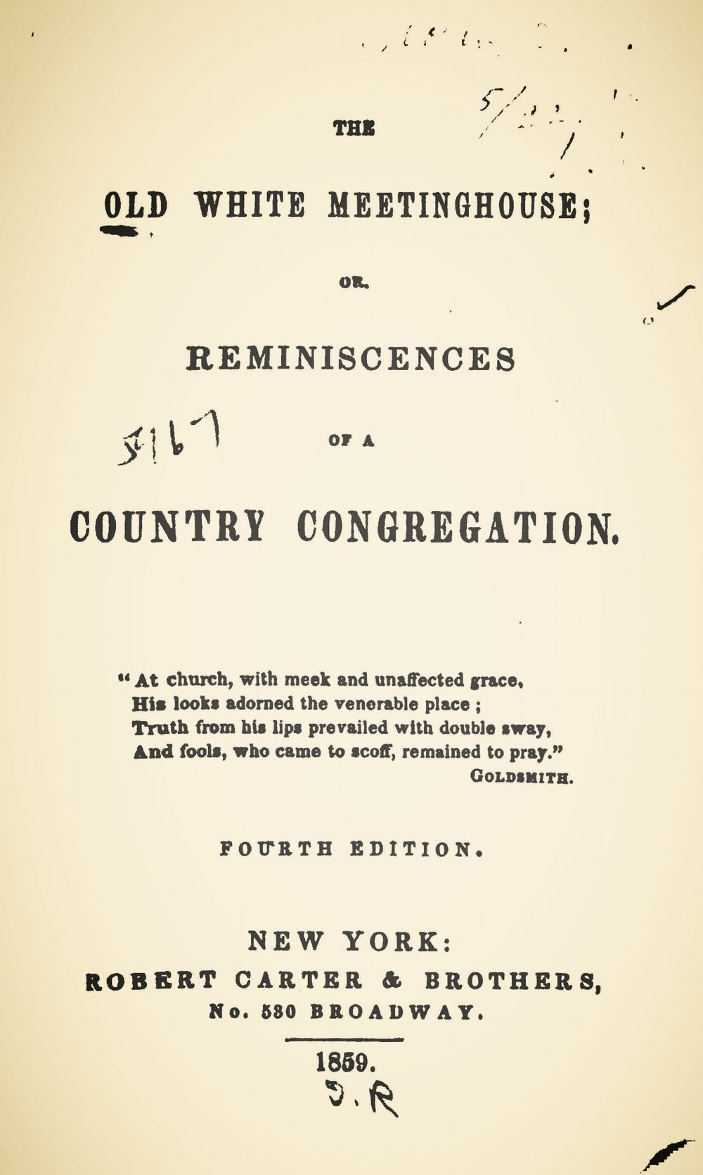 Prime, Samuel Irenaeus, The Old White Meetinghouse Title Page.jpg