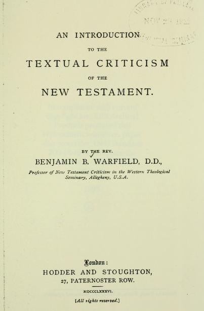 Warfield, Intro to Text Criticism.jpg