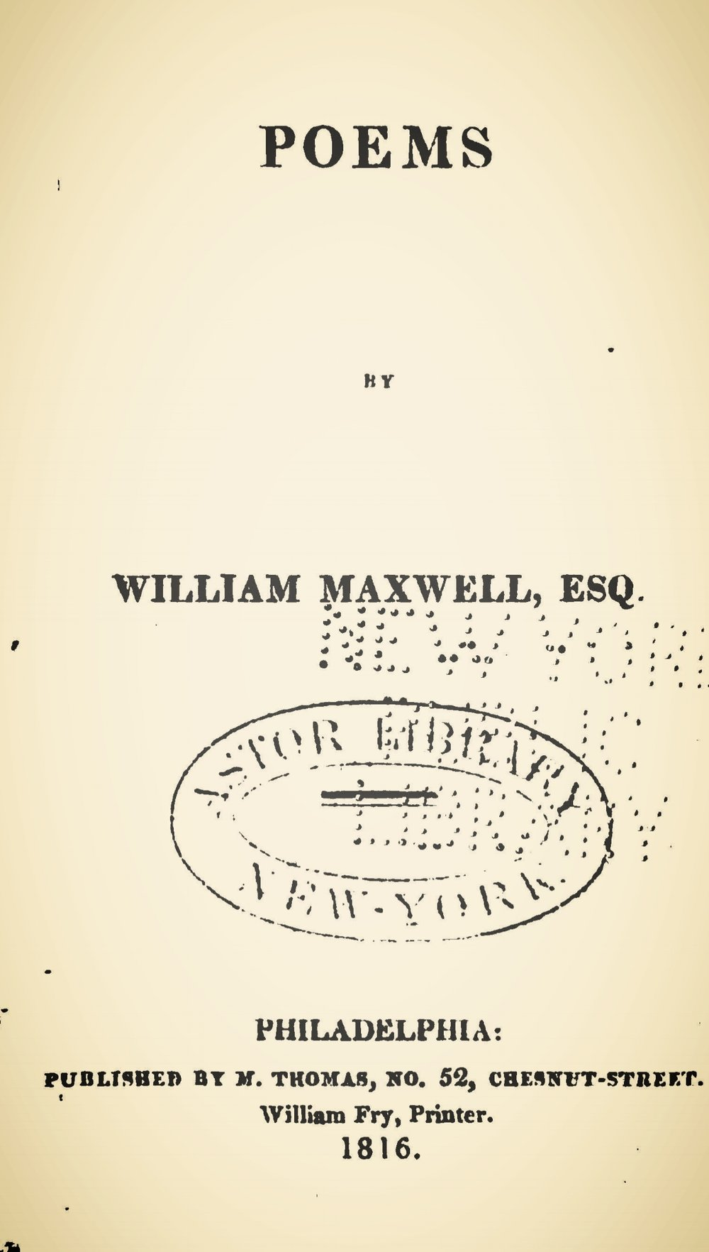Maxwell, William, Poems Title Page.jpg