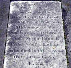 David Brainerd is buried at Bridge Street Cemetery, Northampton, Massachusetts.