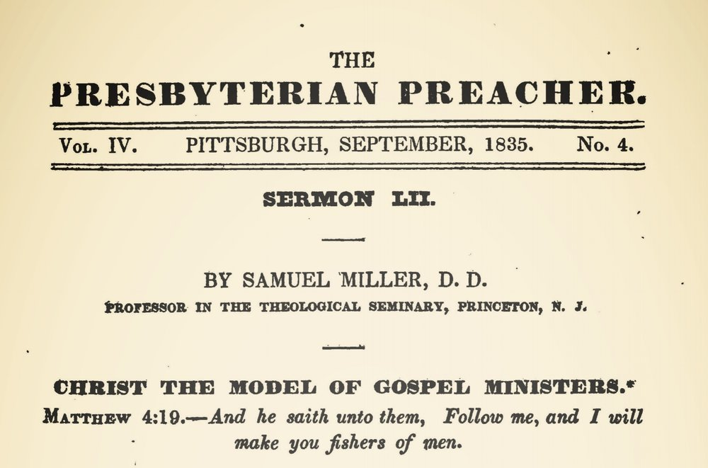 Miller, Samuel, Christ the Model of Gospel Ministers Title Page.jpg