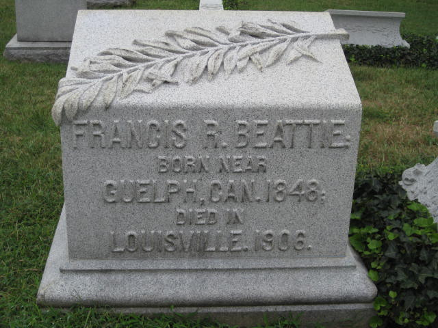 Beattie, Francis Robert gravestone photo.jpg