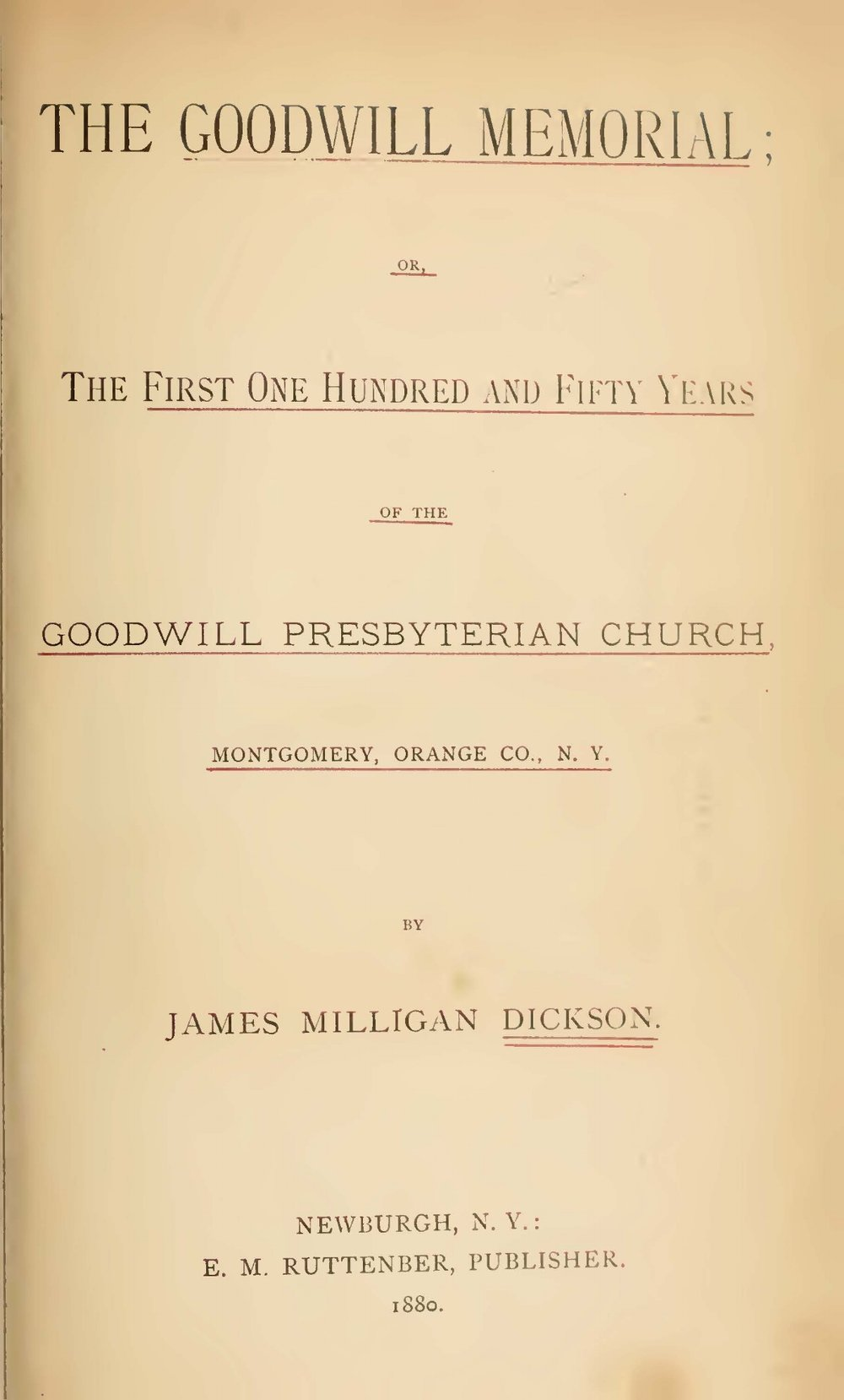 Dickson, James Milligan, The Goodwill Memorial Title Page.jpg