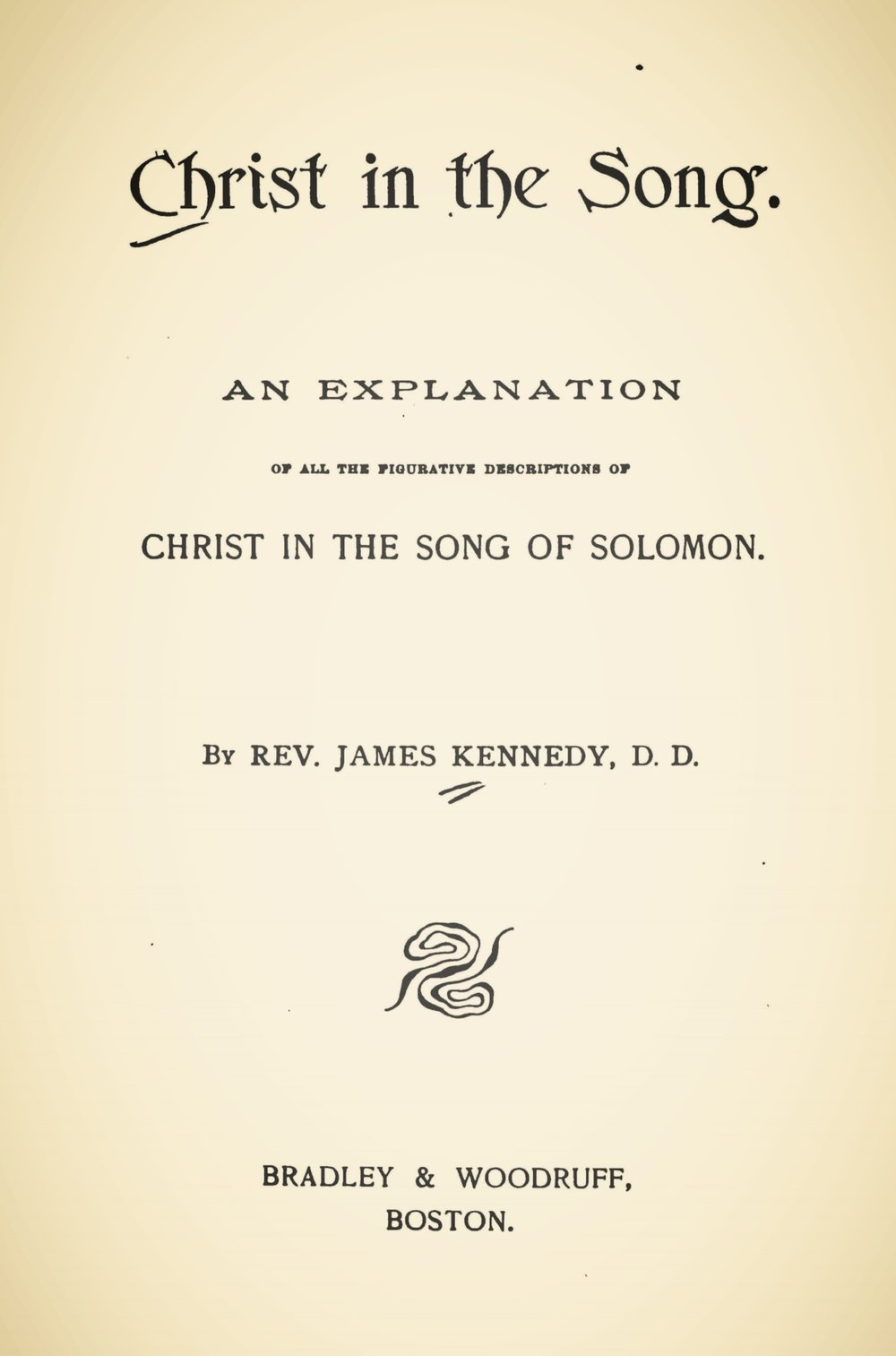 Kennedy, James, Christ in the Song Title Page.jpg
