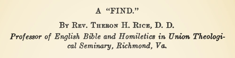 Rice, Jr., Theron Hall, A Find Title Page.jpg