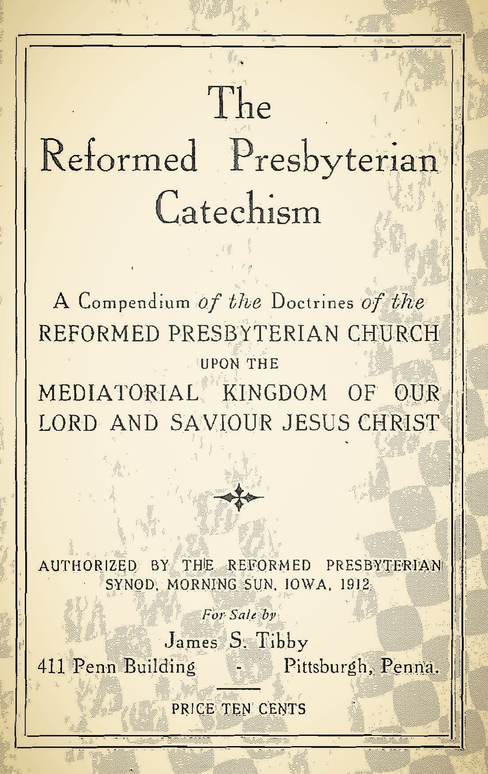 Edgar, George Alexander, The Reformed Presbyterian Catechism Title Page.jpg