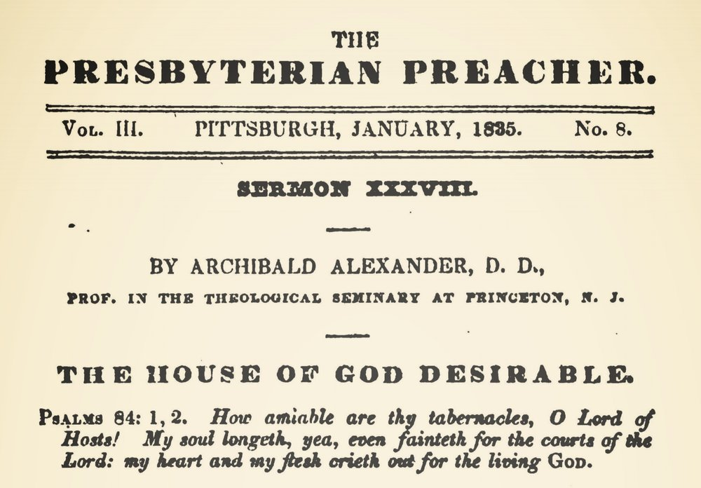Alexander, Archibald, The House of God Desirable Title Page.jpg