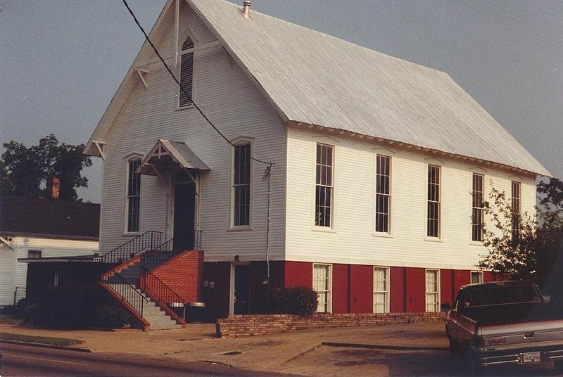 The Selma Reformed Presbyterian Church in Selma, Alabama. Lewis Johnston, Jr. served as its first pastor, while Lewis Johnston, Sr. served the church as a ruling elder.