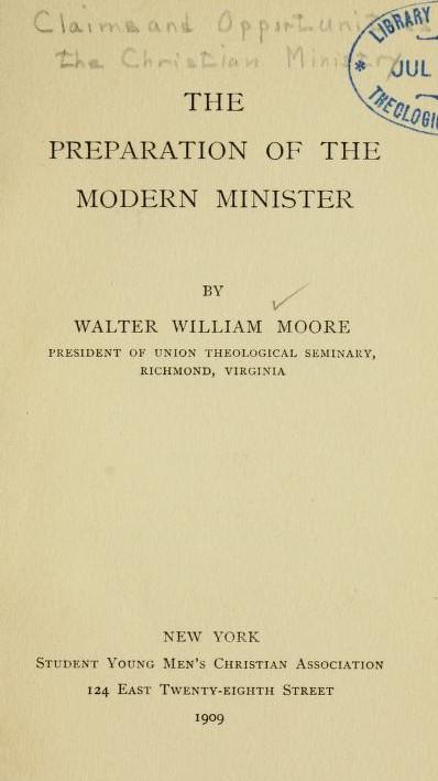 Moore, Preparation of Modern Minister.jpg