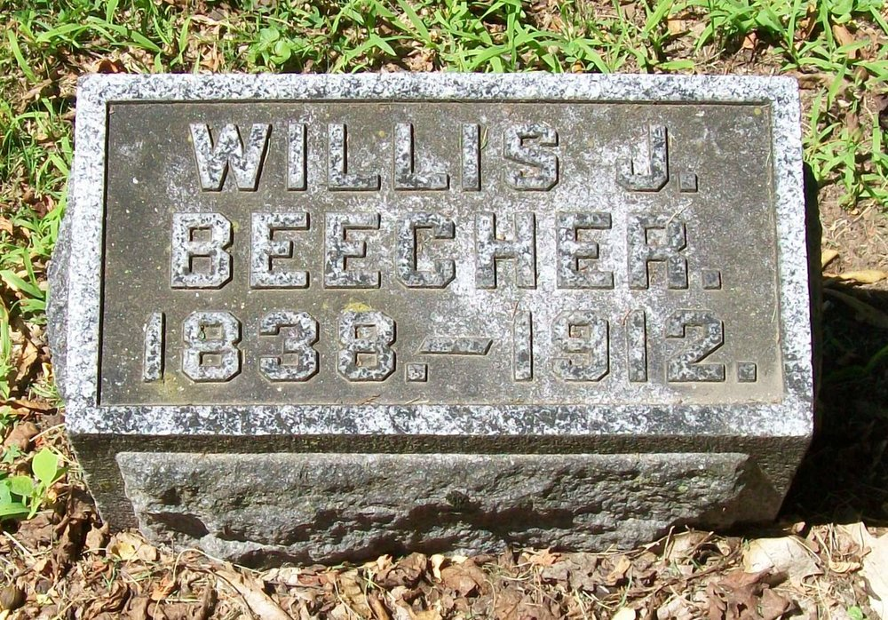 Willis Judson Beecher is buried at Fort Hill Cemetery, Auburn, New York.