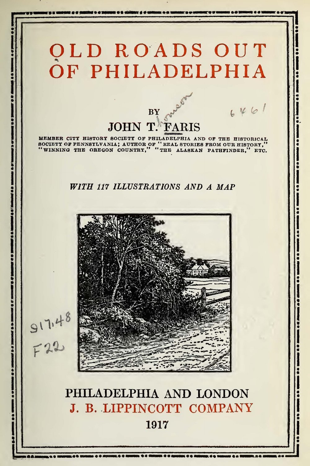 Faris, John Thomson, Old Roads Out of Philadelphia Title Page.jpg