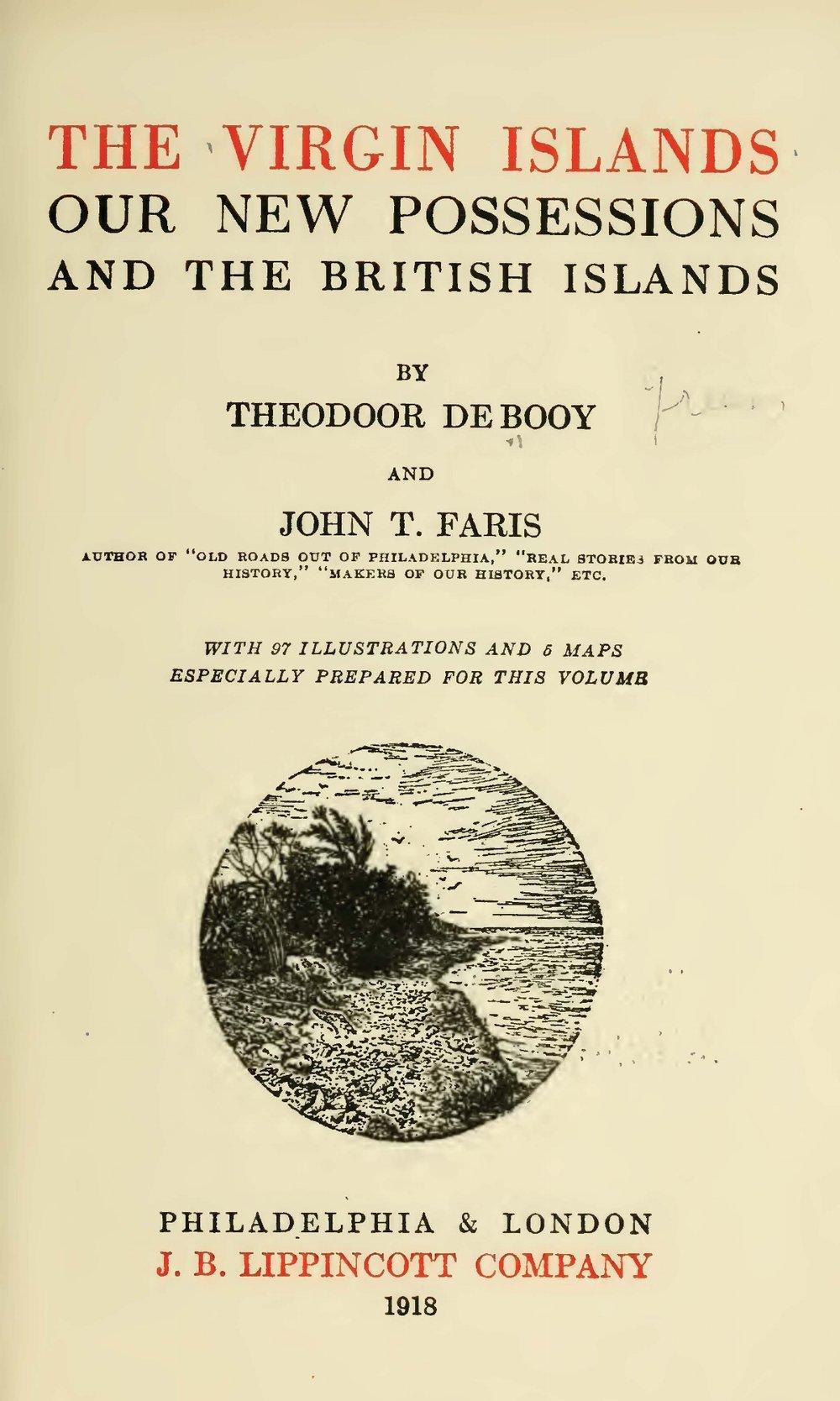 Faris, John Thomson, The Virgin Islands Title Page.jpg