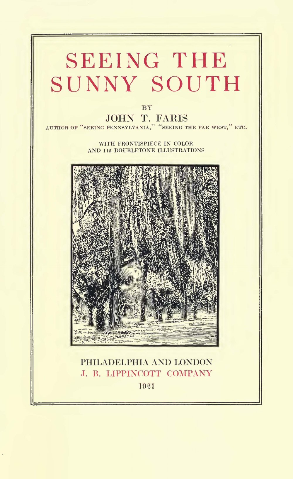 Faris, John Thomson, Seeing the Sunny South Title Page.jpg