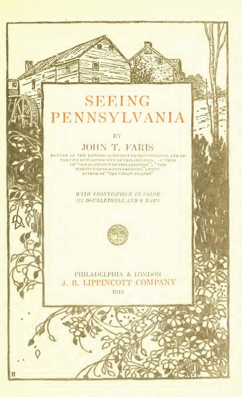Faris, John Thomson, Seeing Pennsylvania Title Page.jpg