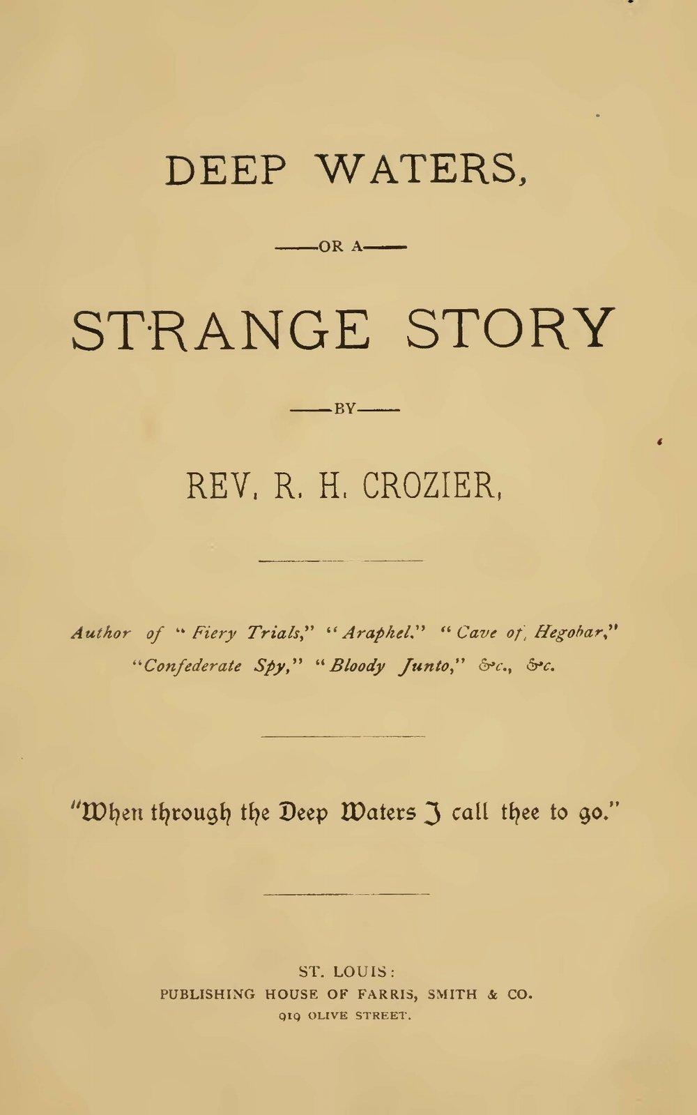 Crozier, Robert Hoskins, Deep Waters Title Page.jpg