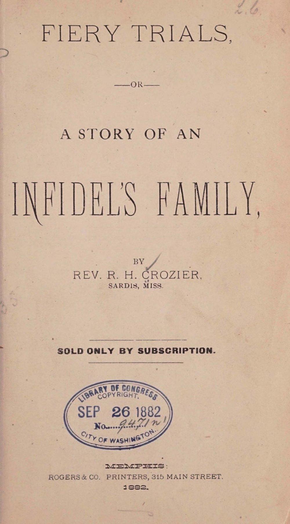 Crozier, Robert Hoskins, Fiery Trials Title Page.jpg