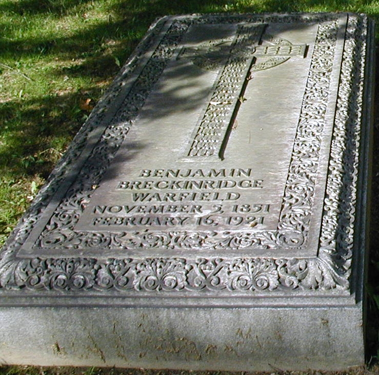 Benjamin Breckinridge Warfield is buried at Princeton Cemetery, Princeton, New Jersey.