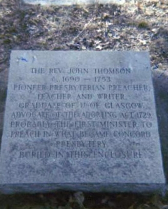 John Thomson is buried in the cemetery of Centre Presbyterian Church in Mooresville, North Carolina.