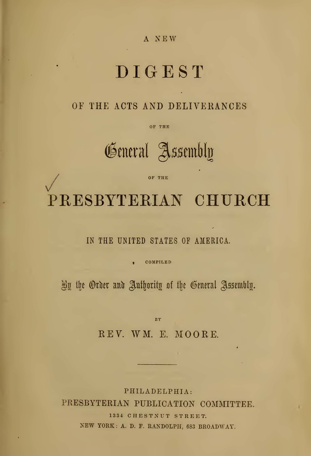 Moore, William Eves, A New Digest Title Page.jpg