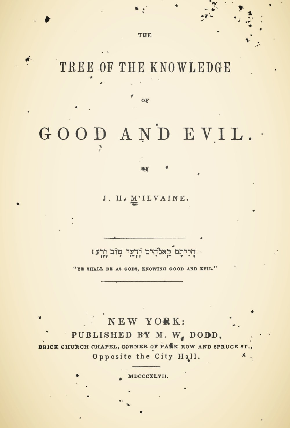 McIlvaine, Joshua Hall, The Tree of the Knowledge of Good and Evil Title Page.jpg
