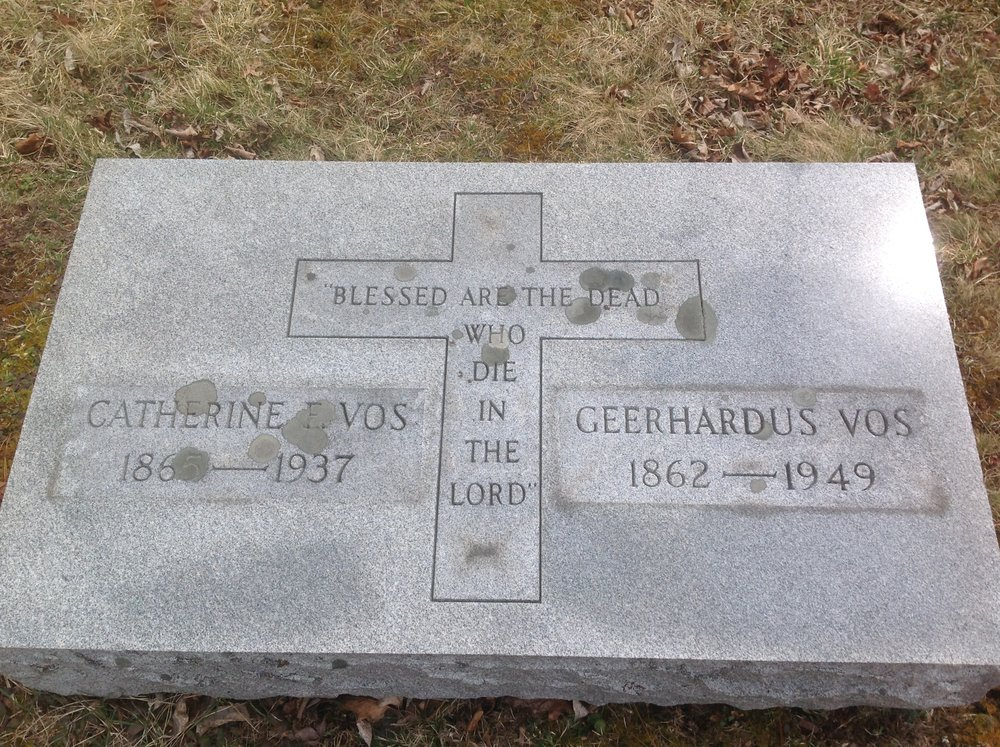 Geerhardus Vos is buried at Roaring Branch Griffin Cemetery, Tioga County, Pennsylvania.