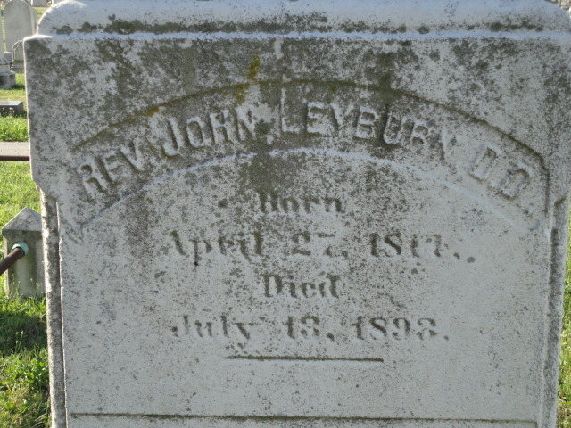 John Leyburn is buried at Green Mount Cemetery, Baltimore, Maryland.