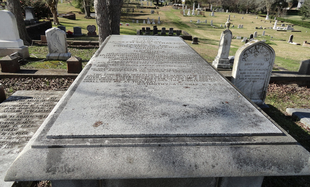 Joseph Buck Stratton, Sr. is buried at Natchez City Cemetery, Natchez, Mississippi.