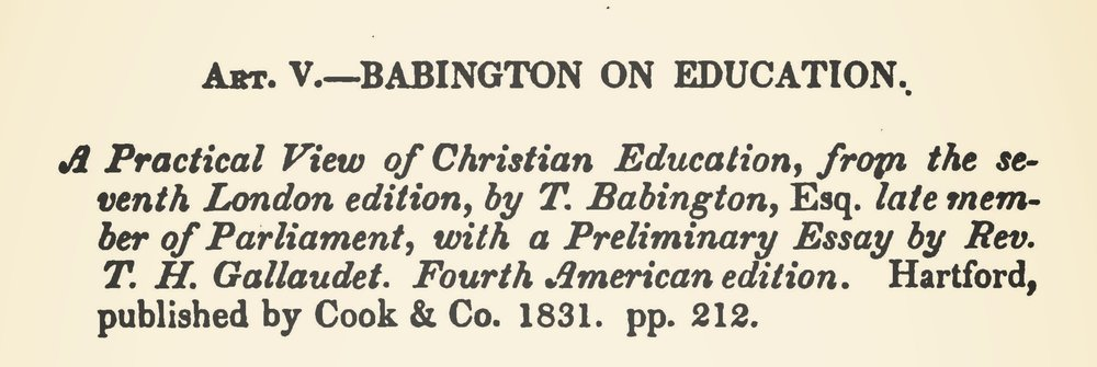 Weed, Henry Rowland, Babington on Education Title Page.jpg