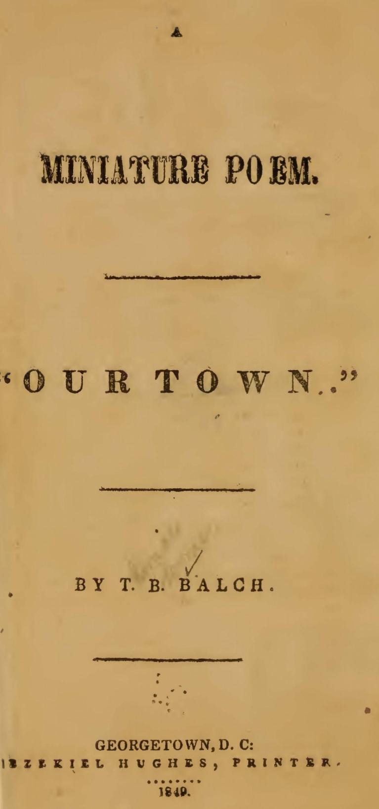 Balch, Thomas Bloomer, A Miniature Poem Title Page.jpg