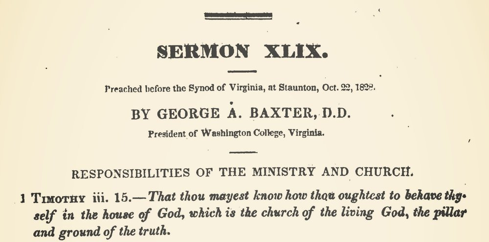 Baxter, George Addison, Responsibilities of the Ministry and Church Title Page.jpg