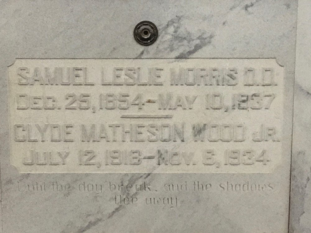 Samuel Leslie Morris is buried at Crest Lawn Cemetery, Atlanta, Georgia.