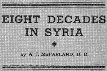 McFarland, Andrew James, Eight Decades in Syria Title Page.jpg