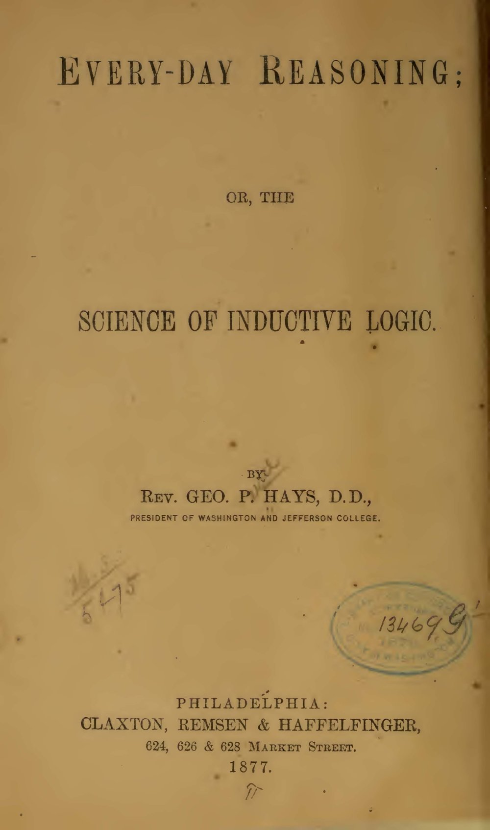 Hays, George Price, Every-Day Reasoning Title Page.jpg