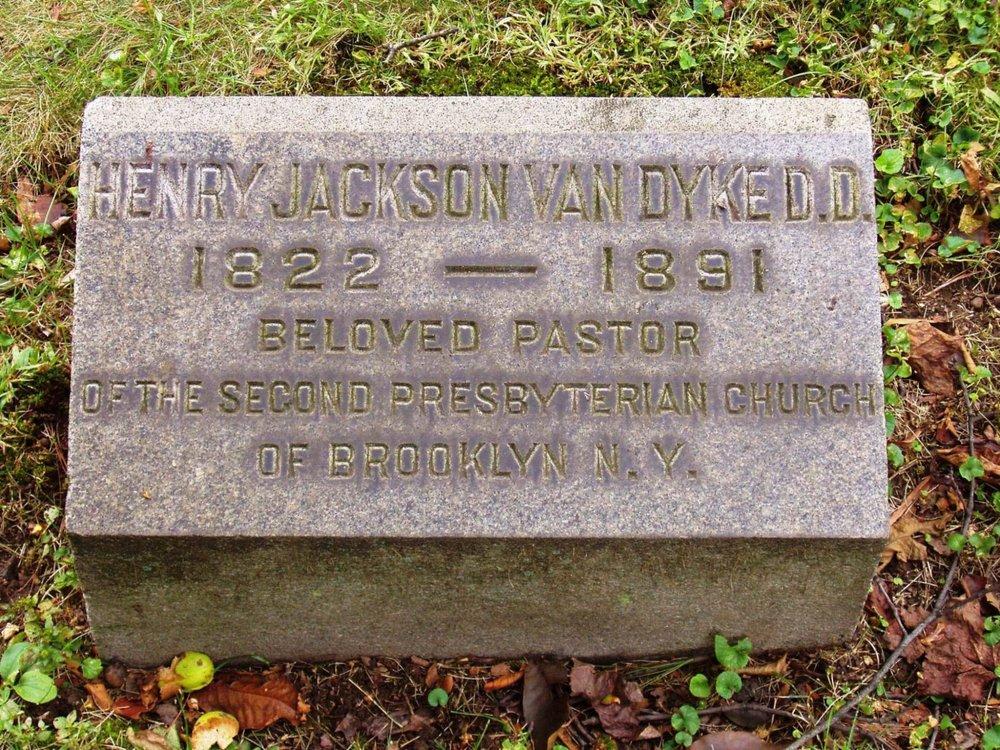 Henry Jackson Van Dyke, Sr. is buried at Green-Wood Cemetery, Brooklyn, New York.