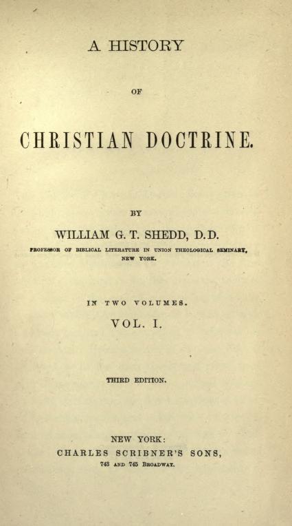 Shedd, History of Christian Doctrine (I).jpg